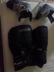 Коньки хоккейные ,  39 размер,  б/у 1 неделя., Шорты хоккейные б/у.