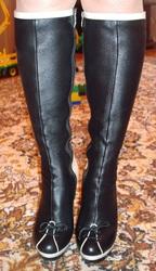 Сапоги кожаные,  очень стильные. Р-р 37.