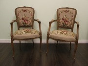 два французких гобеленовых кресла