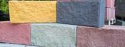 Блоки демлер,  бессер,  цементно-песчаные,  декоративные рваный камень