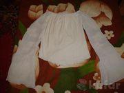 Майка с длинным рукавом белого цвета