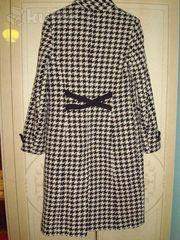 Пальто женское чёрно-белое