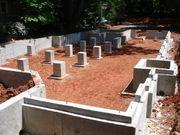 Монолитные работы,  Фундаменты для дома под ключ в Высокое